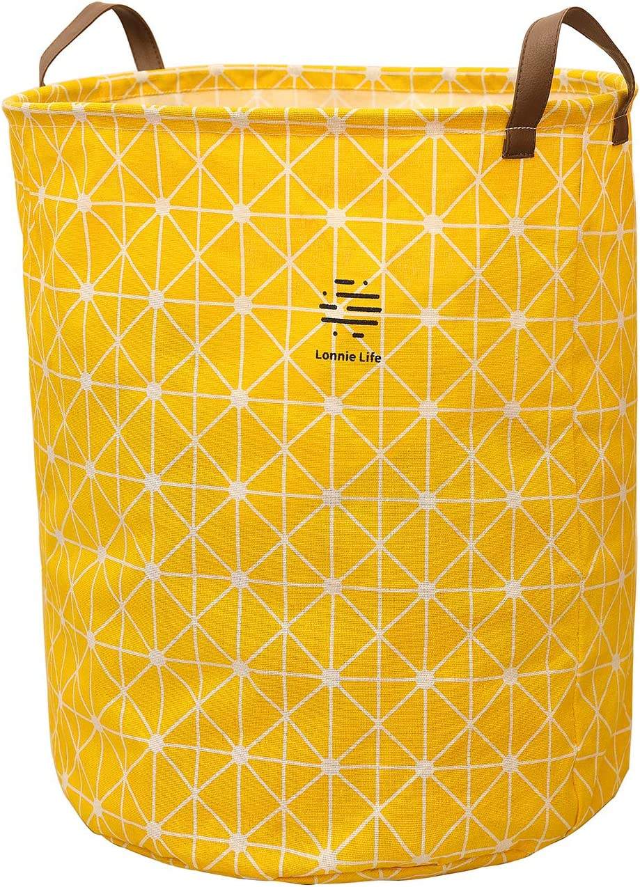 "Lonnie Life Clothes Laundry Hamper,Large Storage Basket,Laundry Basket with Handles Cotton and Linen Hampers,20"" Tall Collapsible Round Storage Bin,Toy Storage Bin."