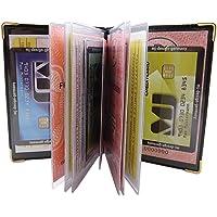 Exclusives Ausweisetui/Ausweishülle/Kreditkartenetui mit Schutzecken aus Metall 12 Fächer MJ-Design-Germany Made in EU Designs