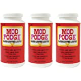 Mod Podge Fast Dry Tissue Glue and Glaze, 1 Pint Jar, Gloss - 3 Bottle