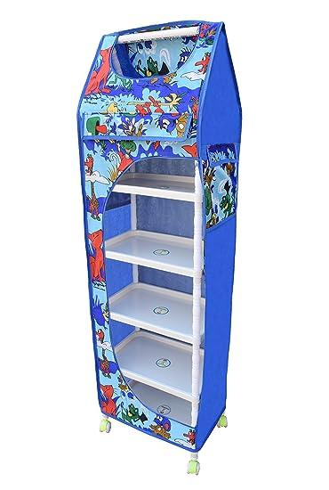 Flipzon Multipurpose 6 Shelve Foldable Almirah(Jungle)/Toy Box