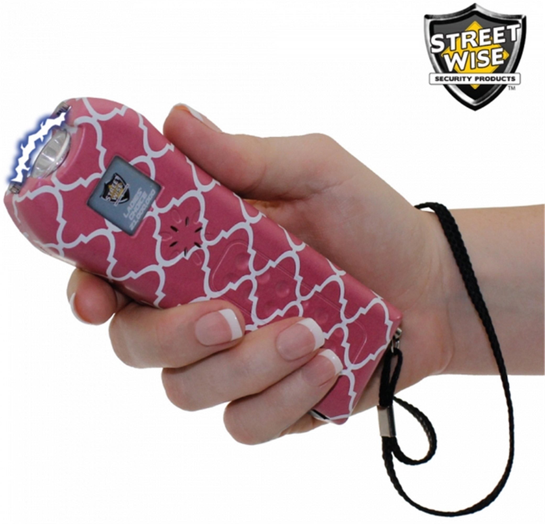 StreetWise Ladies Choice 21 Million Volt Rechargeable Stun Gun with Alarm and Flashlight, Pink Stripe (2) by Streetwise Security