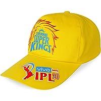 "SHVAS ""IPL Chennai Super Kings CSK Fan Cap Cotton Baseball Adjustable for Men/Women Unisex Baseball Cap [IPLCAPCSK] Black"