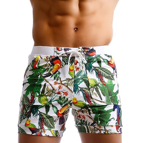 c0f210c2d71d9 Taddlee Caleçon de bain long pour homme, planche, surf, motif floral
