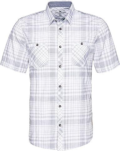 Tom Tailor Ray Check Shirt Camisa, Blanco (White 2000), Small para Hombre: Amazon.es: Ropa y accesorios