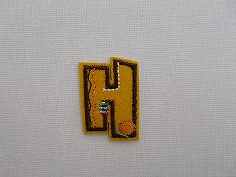 Applique ricamato ferro su tessuto lettere dell alfabeto lettera
