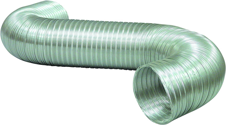 """Deflecto Aluminum Duct, Semi Ridgid, Flexible, 6"""" x 8', Silver (A068/4-A)"""