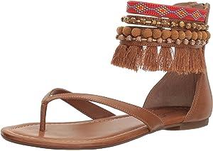 3e46be8c8 Amazon.com | Jessica Simpson Women's KYNDALLE Flat Sandal, Warm ...
