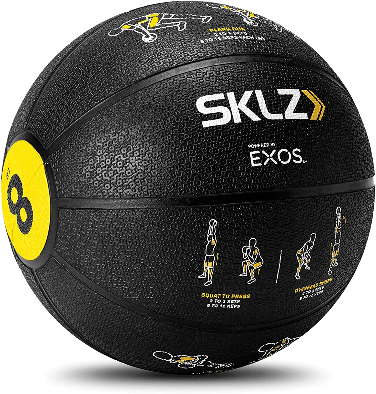 SKLZ Trainer Med Ball Bal/ón Medicinal con Instrucciones en Hoja 8 Libras
