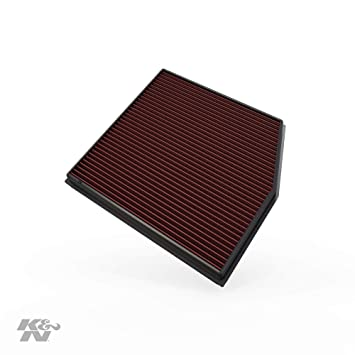 K&N engine air filter, washable and reusable: 2010-2015 BMW L6 (X1, 135i,  335i Coupe) 33-2458