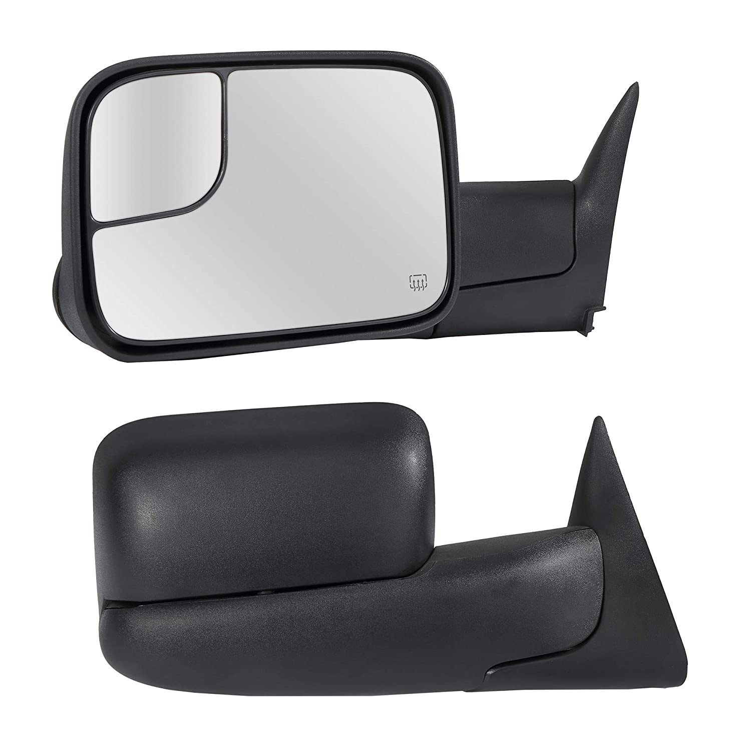 Manual Folding Dependable Direct Towing Mirrors Passenger /& Driver Side Power Operated With Black Finish Fits 94-97 Dodge Ram 1500 2500 3500 3-Pin Connector