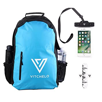 3a840a1b273 25L Waterproof Wet Dry Bag Rucksack Backpack by Vitchelo - Kayak  Accessories