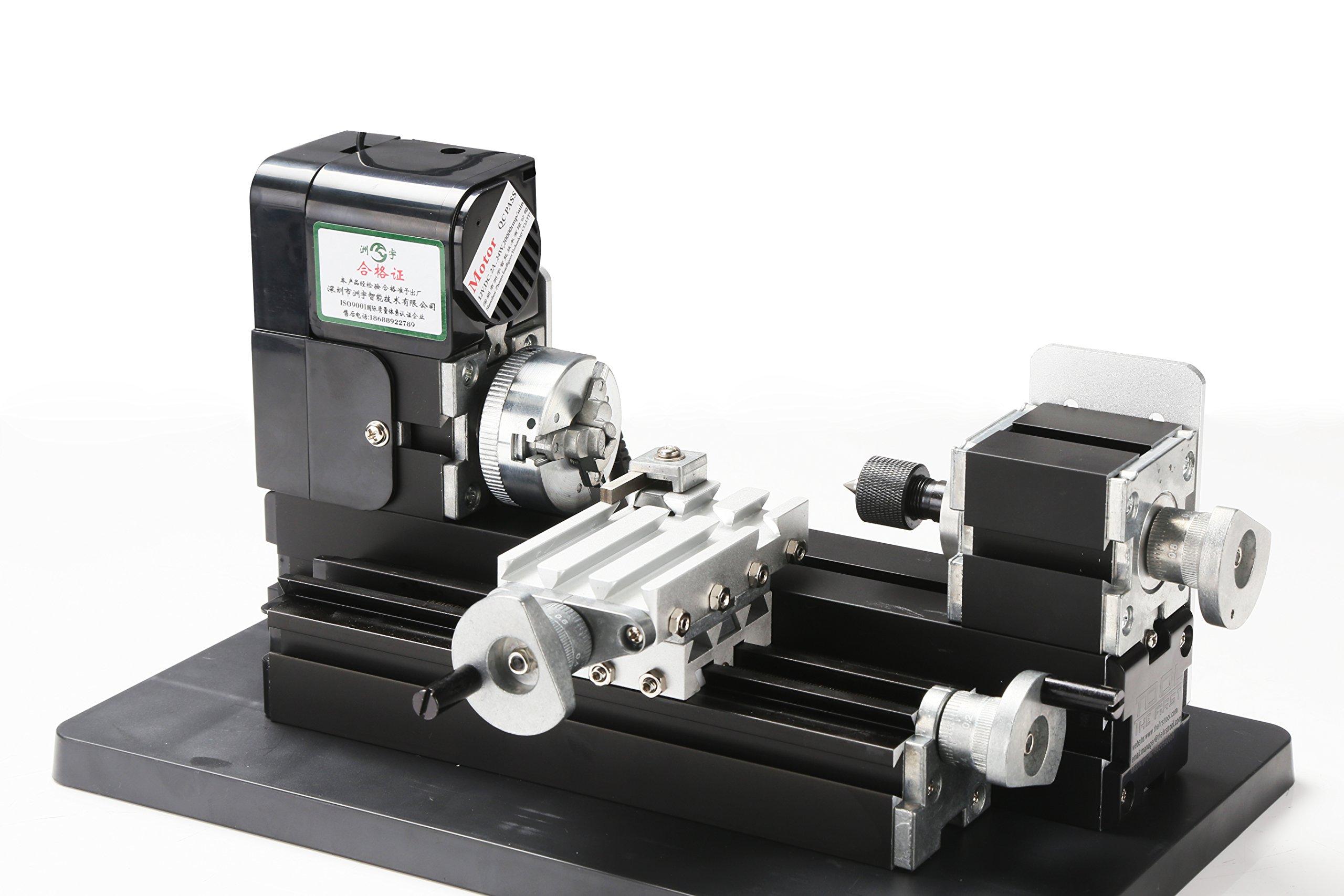 24W All Metal Mini Lathe, use 20,000r/min, 24W Motor ,mini lathe for students DIY Works, best gift for Chrildren's Gift.