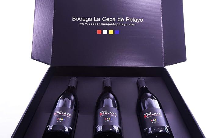 Estuche 3 botellas LA CEPA DE PELAYO PREMIUN Vino tinto ...