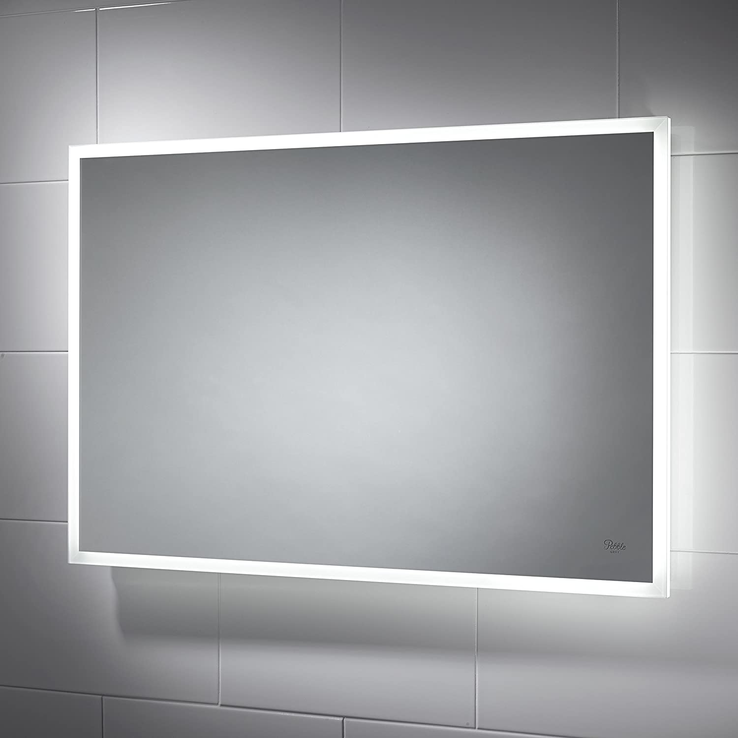Taron LED Illuminated Bathroom Mirror 900mmW X 600mmH With Sensor Switch And Demister Pad Amazoncouk Kitchen Home