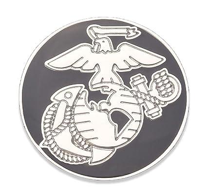 Amazon com: USMC EGA Lapel Pin - Marine Corps Black EGA Shiny Nickel