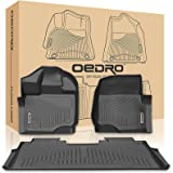 oEdRo Floor Mats Liners Compatible for 2015-2019 Ford F-150 SuperCrew Cab- Unique Black TPE All-Weather Guard, Includes 1st & 2nd Front Row and Rear Floor Liner Full Set