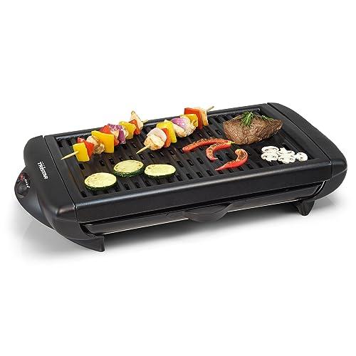 Barbacoa grill eléctrica Tristar BQ-2818 – Modelo de mesa – Plancha de aluminio fundido