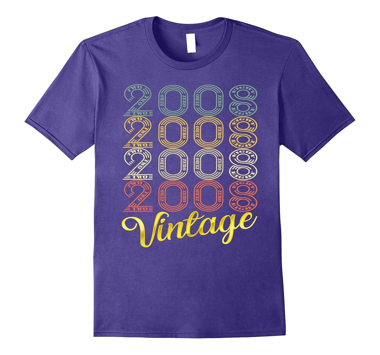 Vintage 2008 Kids 9 Years Old Fun 9th Birthday T-Shirt Gifts-FL