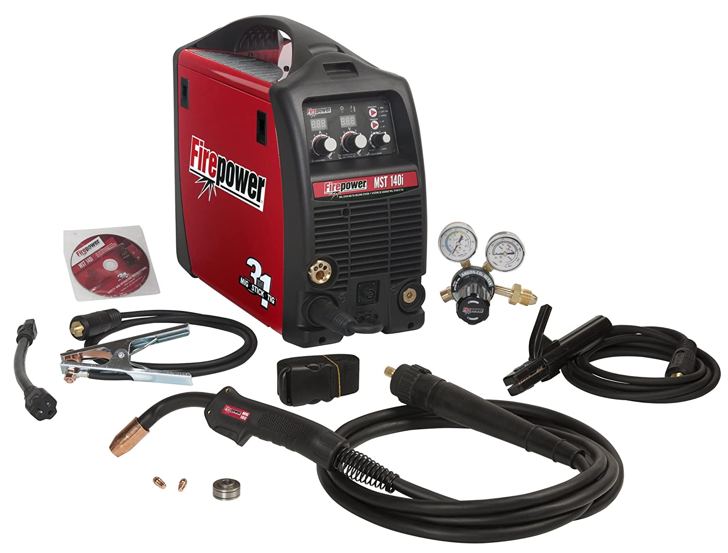2. Firepower 1444-0870 MST 140i 3-in-1 Mig Stick and TIG Welding System