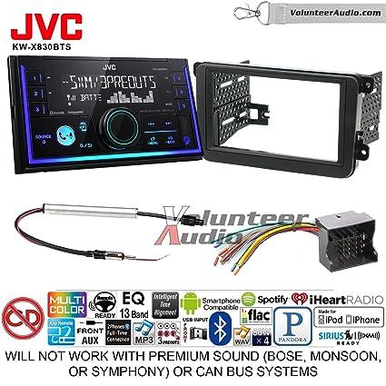 Amazon com: JVC KW-X830BTS Double Din Radio Install Kit with
