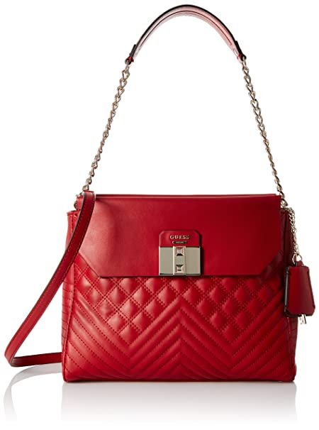 GUESS Rebel Roma Shoulder Bag, Ruby  Amazon.in  Clothing   Accessories f4c6bd82fc