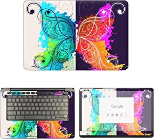 decalrus - Protective Decal Butterfly Skin Sticker for HP ChromeBook 14-CA061DX (14