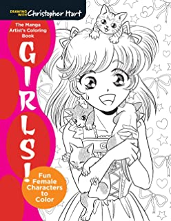 the manga artists coloring book girls fun female characters to color - Coloring Books For Girls