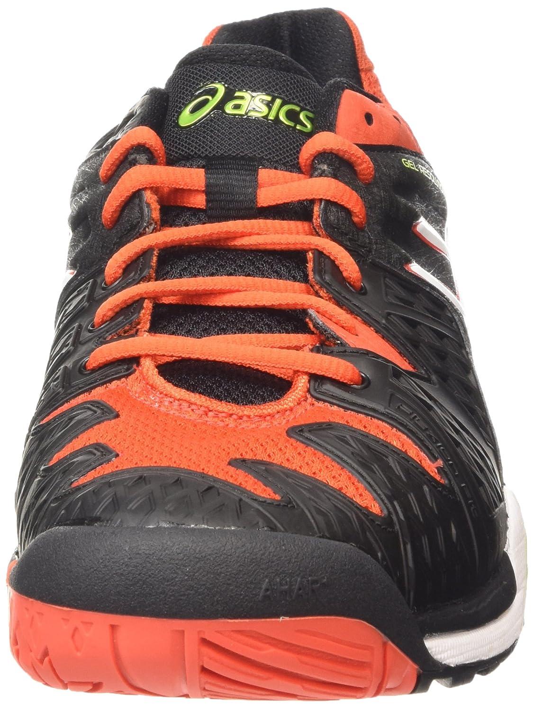 sale retailer 1bd11 5e508 ASICS Gel-Resolution 6 Chaussures de Tennis Homme, Noir (Black White Orange  9001) 42.5 EU  Amazon.fr  Chaussures et Sacs