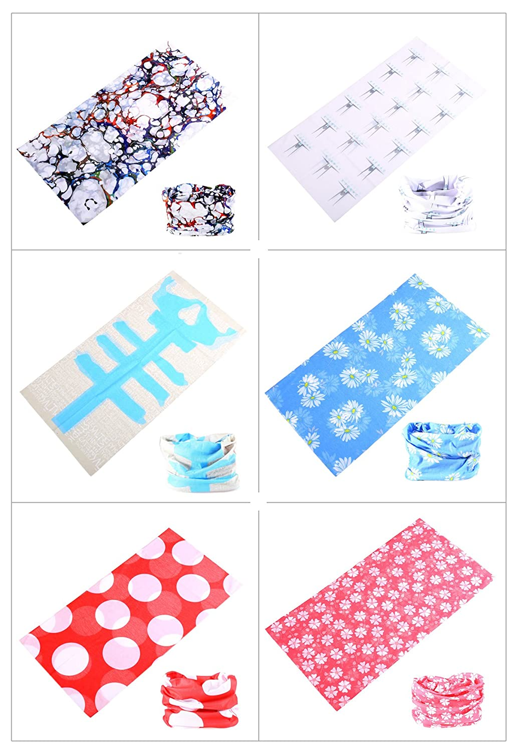 Headscarves Mask High Elastic Womens and Mens Headbands with UV Resistance Headwear KINGREE 9PCS/&6PCS Outdoor Magic Scarf
