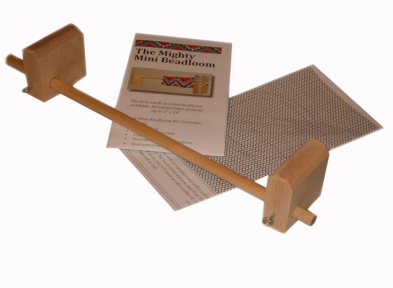Mighty Mini Ojibwa Bead Loom for Seed Bead Work Weaving Wood Beadloom 9782-902247