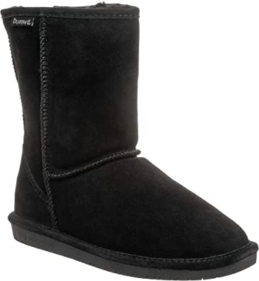 Bearpaw Emma Short Black suede Fur Lined Sheepskin Comfortable Boots 11