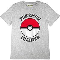 Popgear Pokemon Trainer Poke Ball Boys T-Shirt Heather Grey Camiseta para Niños