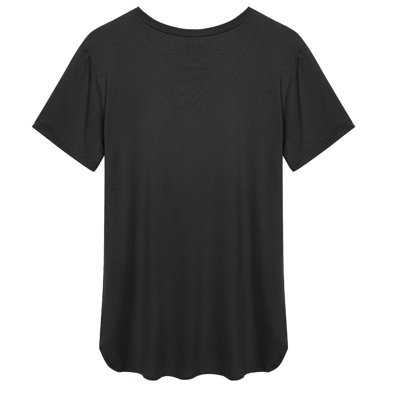 ACEVOG Womens Short Sleeve Leopard Printing V-Neck Tee Tank Top Shirt