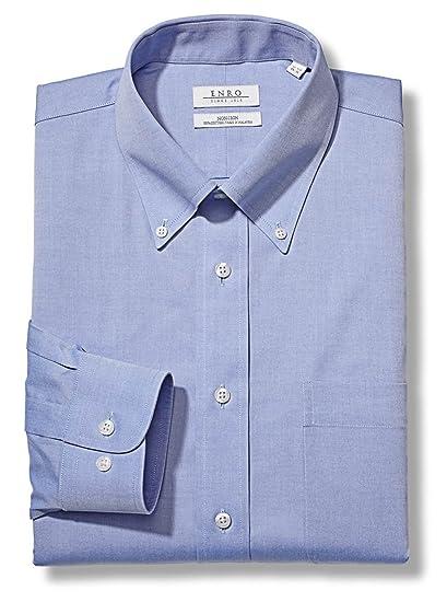Enro Non-Iron Button Down Collar Solid Color Big /& Tall Size Dress Shirt