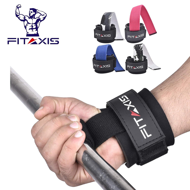 FITAXIS ウェイトリフティングストラップ 12インチ ノンスリップゲルグリップ 手首&前腕 重いデッドリフト、ロウ、シュラグ、ダンベル、スクワット、プルアップ用 12\ ブラック B07H9TS3JB