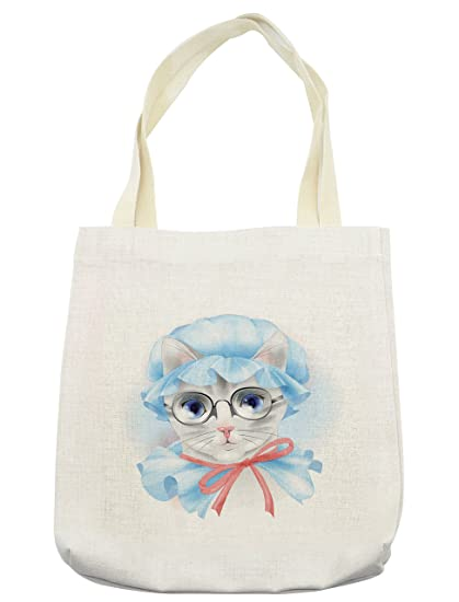 ce41b65f0d6c Amazon.com - Lunarable Cat Tote Bag
