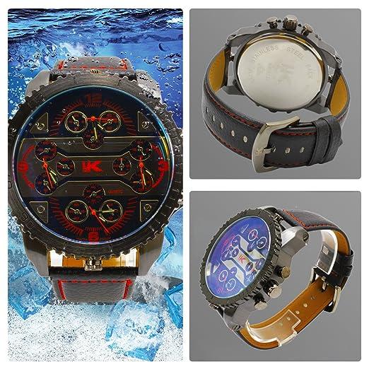Yaki marca relojes hombre fantasía automático analógico de pulsera 3 ATM impermeable reloj: Amazon.es: Relojes