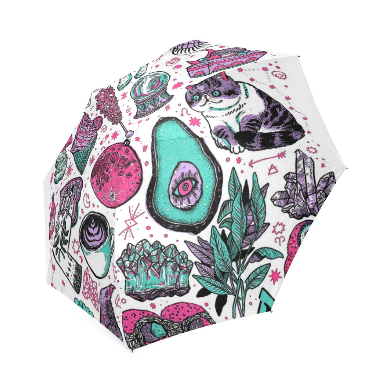 beautytool基本的な魔女カスタム折りたたみ式雨傘 B0776R38XV