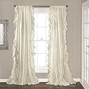 Lush Decor Reyna Window Curtain Panel Pair, 54 x 84, Ivory