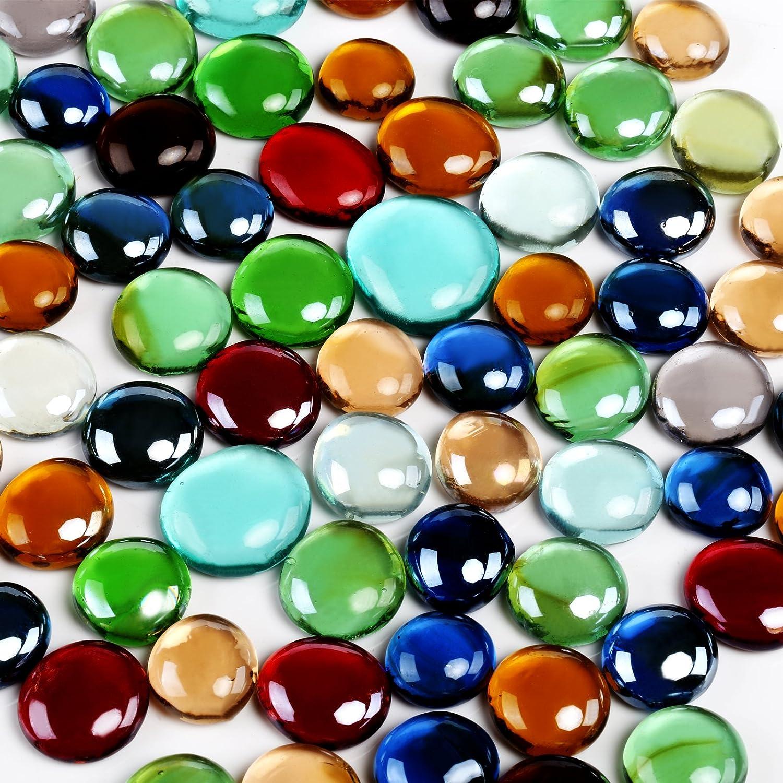 GWHOLE 550g Cristal Nuggets Transparente mosaicos Jardín Decoración