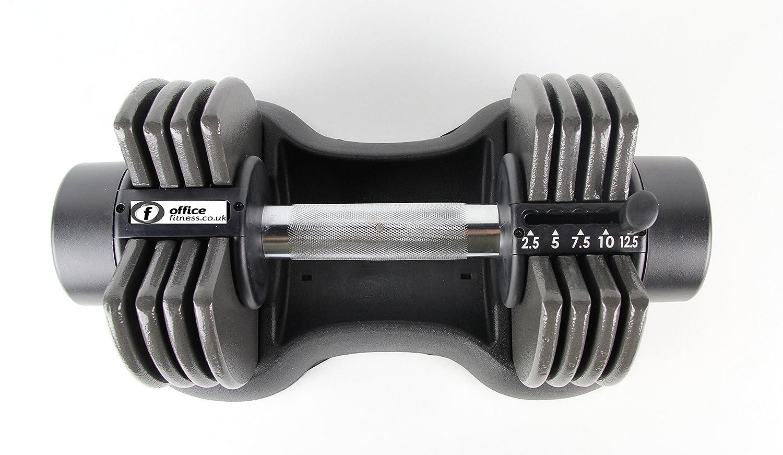 Office Fitness - Mancuerna Ajustable, 12,5 kg: Amazon.es: Deportes ...
