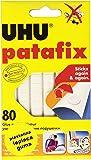 UHU 946696 - Pack de 80 masillas adhesivas, color blanco