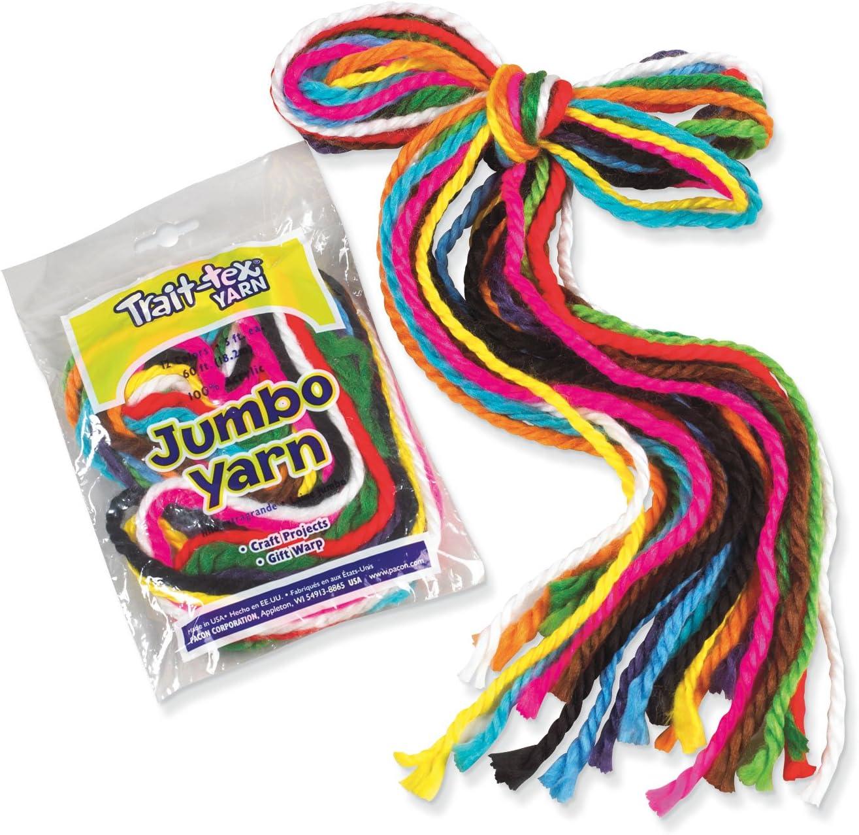 Trait-tex Jumbo Yarn Pack 5 Strands,12 Colors