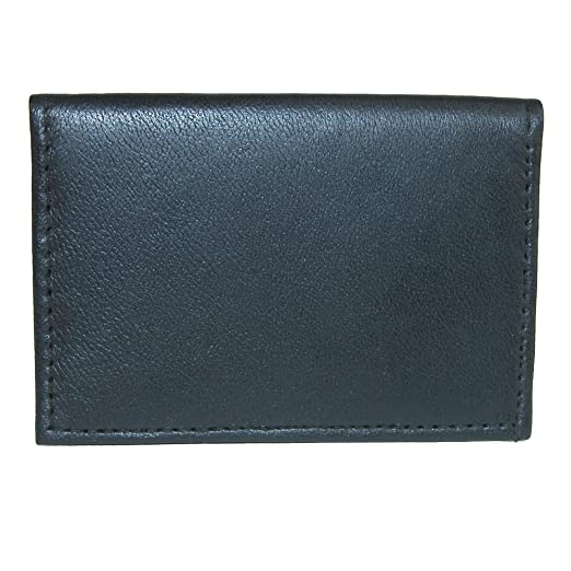 f2b4d1d733a3 CTM Leather Ultra Slim Card Case Wallet with ID