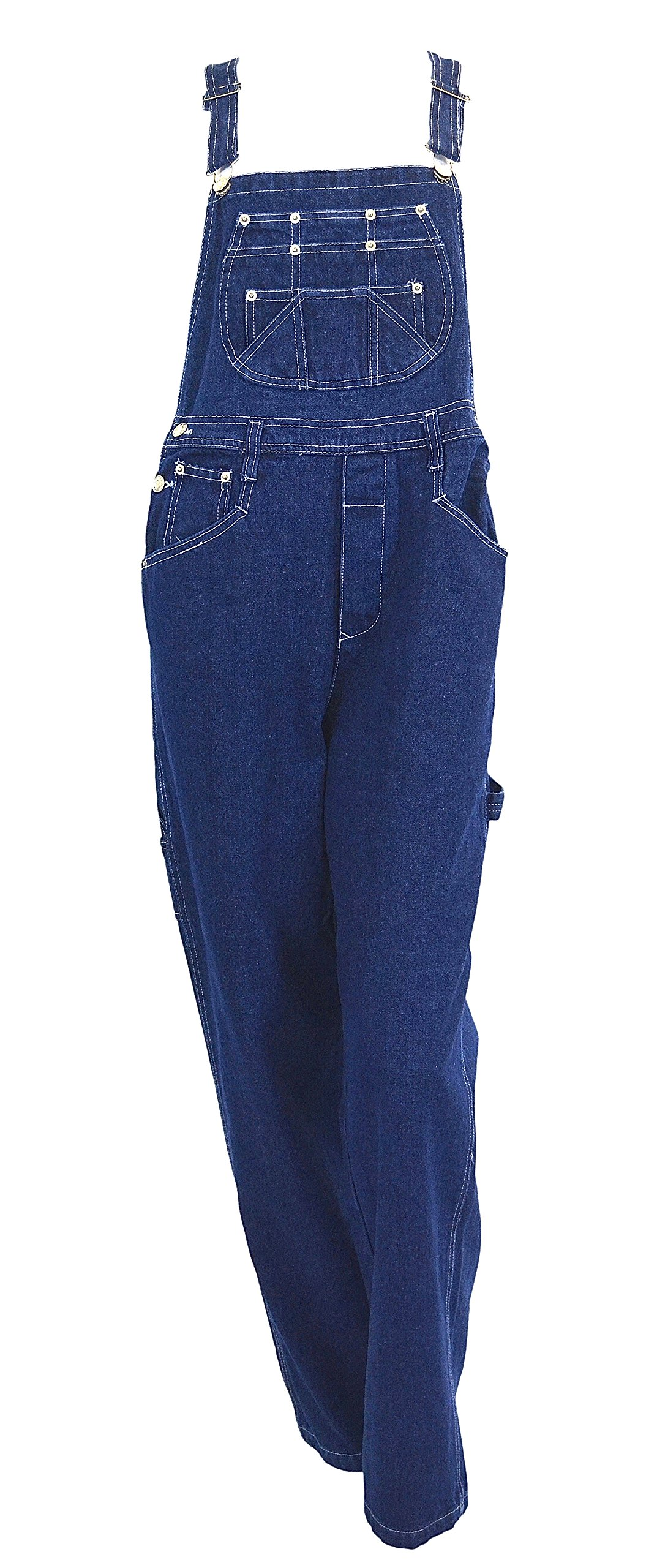Eagle Women's EGLE jeans Stonewashed Blue denim bib overalls Size XX-Large