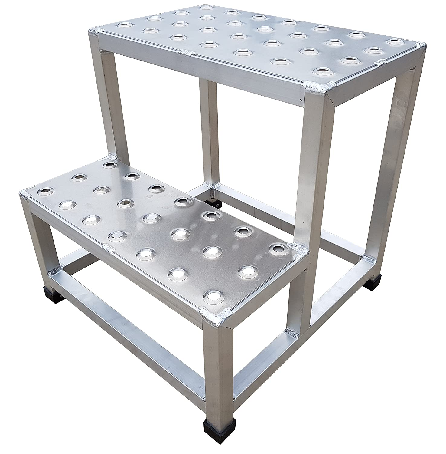 Aluminum Step Stands 20 in H 500lb Perforated Type