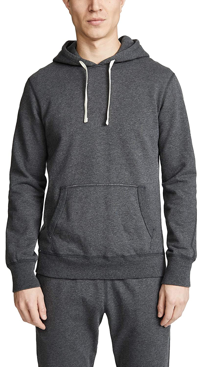 Reigning Champ Mens Midweight Terry Pullover Hoodie X-Large Grey Heather Charcoal