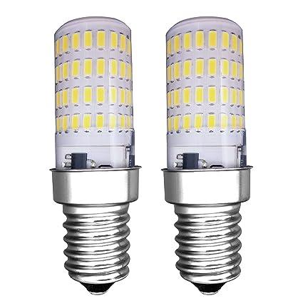MZMing [2 Piezas] E14 Pequeño LED Bulbo 4W Bombillas Nevera - Dimmable 6000K Blanca Fría 450lm de Haz de Halógena de 40W- Calor Bajo Usado para ...