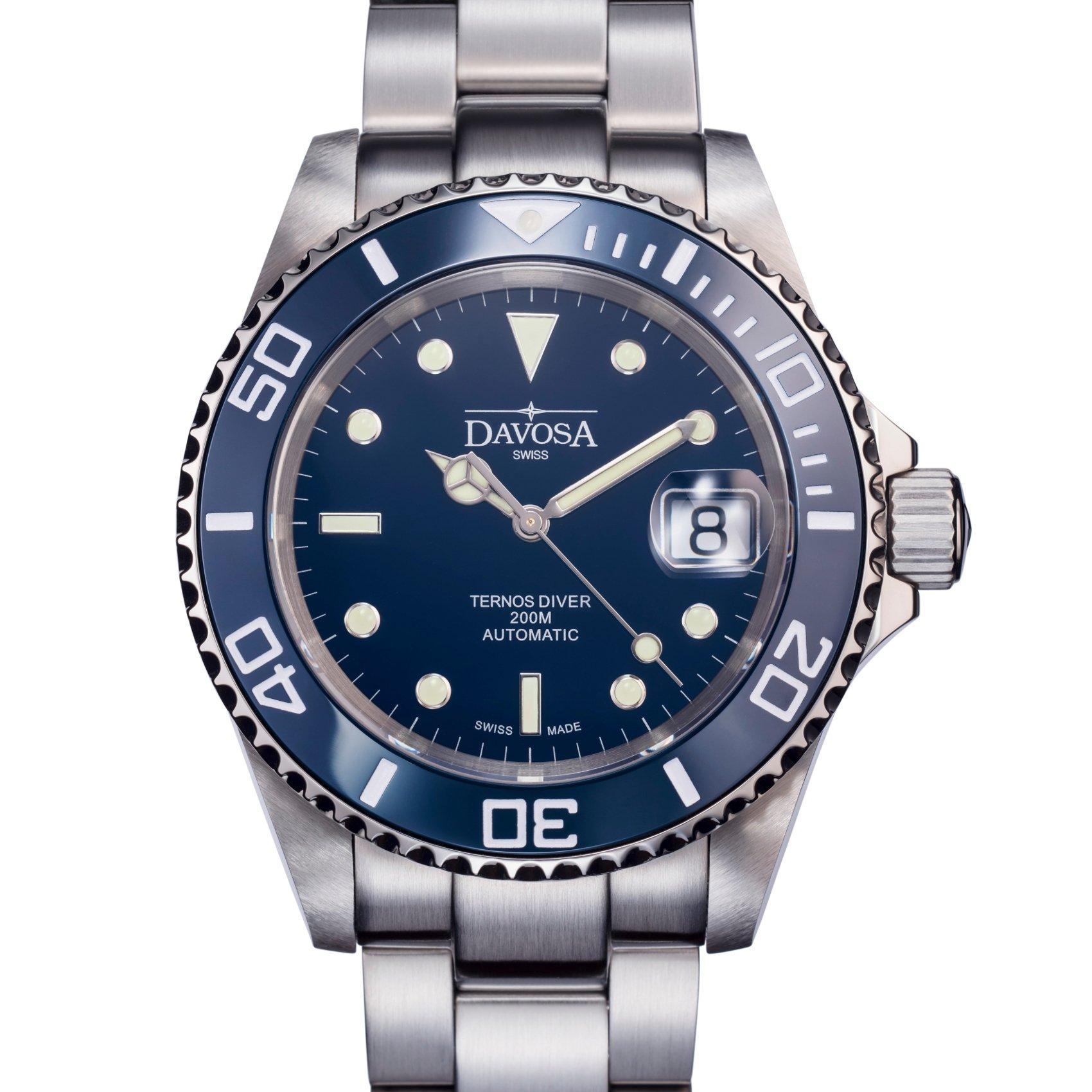 Davosa Swiss Made Men Wrist Watch, Ternos Ceramic 16155540 Professional Automatic Analog Display & Luxury Bezel