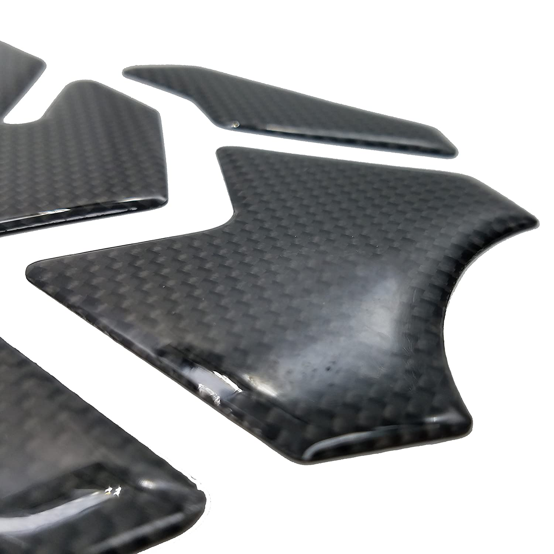 Real Carbon Fiber Blue 3D Sticker Vinyl Decal Emblem Protection Gas Tank Pad For KAWASAKI Ninja-Zx6R All